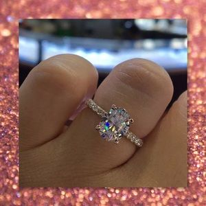 5⭐️RATED🆕 14k Rose Gold Filled Oval Topaz Ring